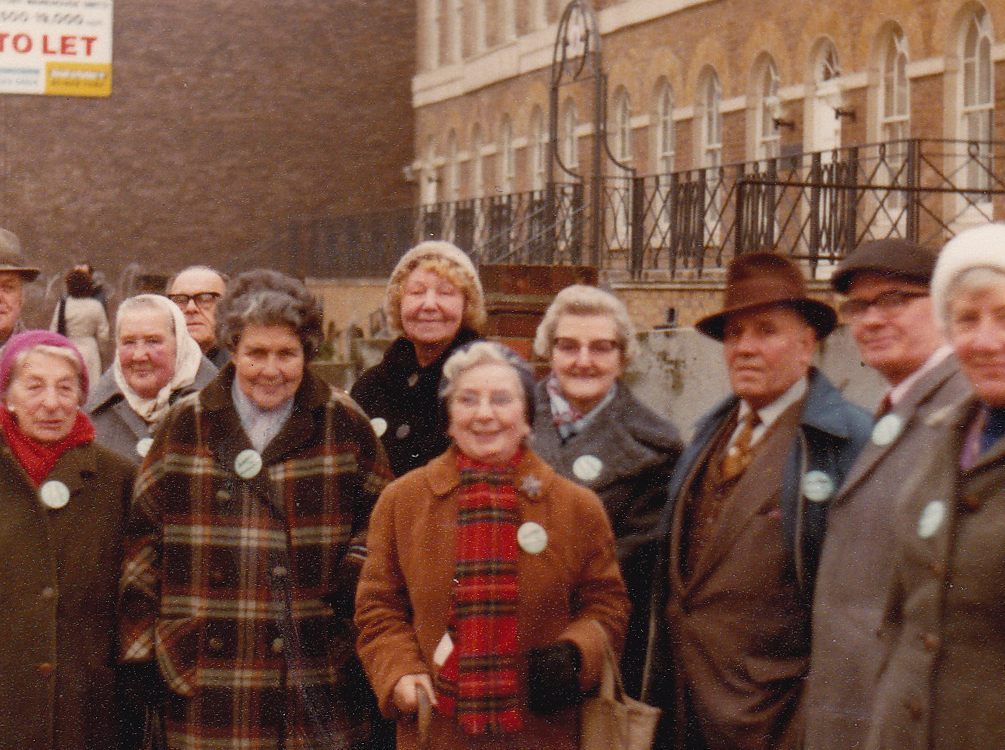 Lobbying Harriet Harman at Westminster c 1983